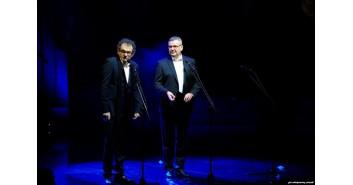 A. Poniedzielski i A. Andrus zapraszają na niezobowiązujący wieczór kabaretowy