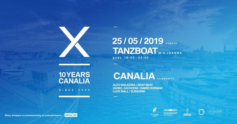 TanzBoat pres. Canalia 10th Birthday