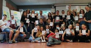 Prezentacja współpracy między DK 13 Muz a ośrodkiem Jugendhilfe und Sozialarbeit e.V. (JuSeV) Hirschluch